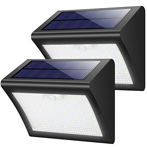 センサーライト屋外 HETP 改良版 2個セット 60LED 防水 ソーラーライト 照明 人感明暗 防犯ライト 太陽光発電 3つ点灯モード 玄関/駐車場/廊下