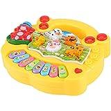 Asixx 音楽おもちゃ 知育玩具 動物農場ピアノ 赤ちゃん 幼児 子供用 音楽玩具 色認識 鍵盤 電子キーボード 知性刺激 可愛い ギフト 贈り物 2色 (黄色)
