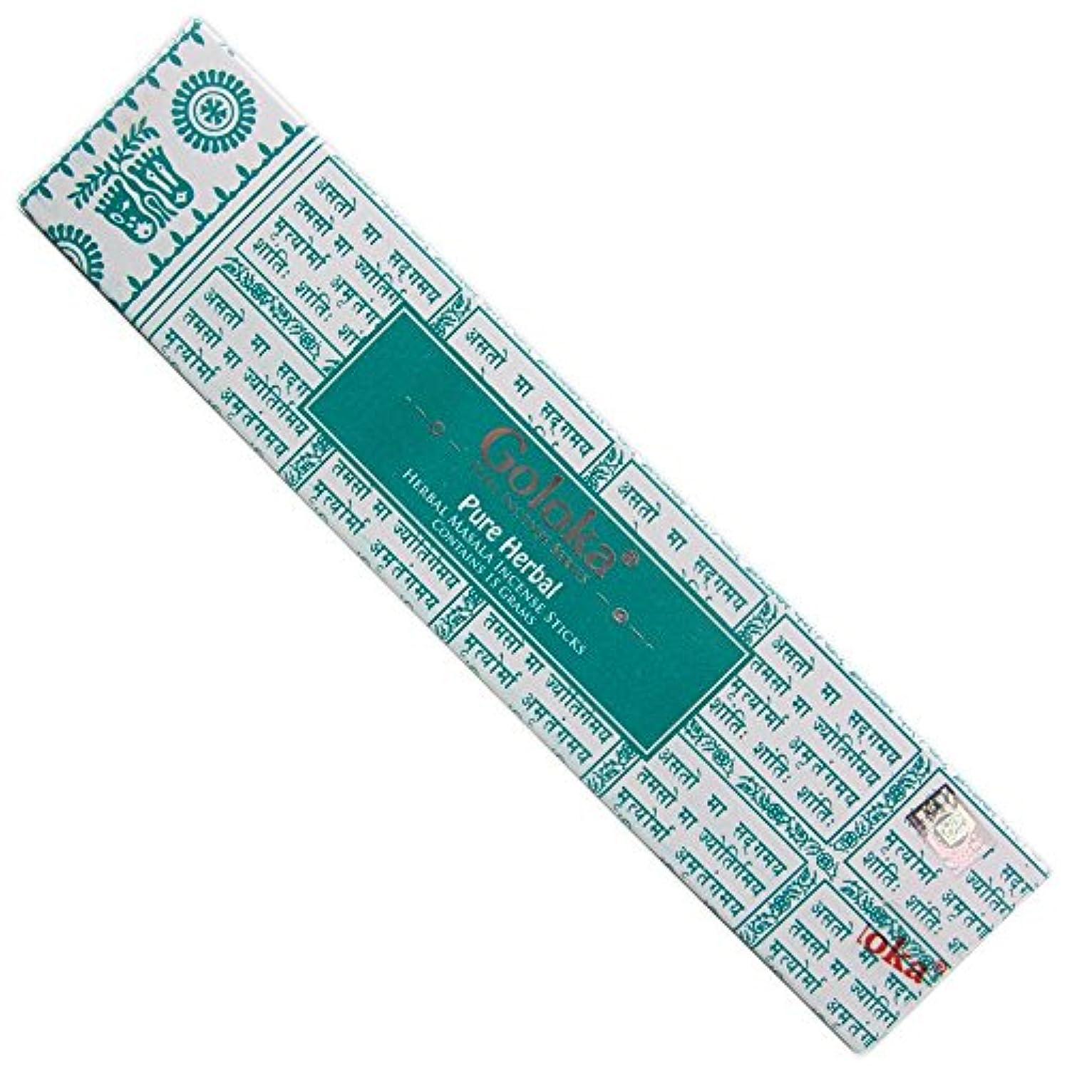 塗抹中に現金Goloka – Pureハーブ – Herbal Incense Sticks – 12ボックスの15グラム合計180グラム