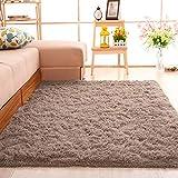 SANMU ラグ カーペット 洗える 120×160cm ラグマット 2畳 じゅうたん カーペット 13色選べる ラグマット 防ダニ 滑り止め付き 夏 冷房対応 ふわふわ 床暖房対応 センターラグ 長方形 ベージュ