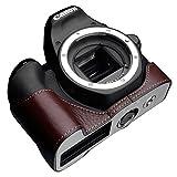 GARIZ Canon EOS Kiss X9用 本革カメラケース XS-CH200DBR ブラウン