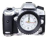【morningplace】 カメラ 風 目覚まし時計 お洒落 デジカメ デザイン インテリア に (シルバー)