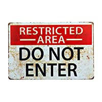 DL-Restricted Area Sign -Do Not Enter wall art Sign 812 inch …