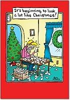Beginning to Look LikeクリスマスクリスマスユーモアGreeting Card 12 Christmas Card Pack (SKU:B5889)