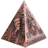 MagiDeal Ancient Egypt Pyramid Piggy Bank Vintage Home Decor Crafts Ornaments Birthday Gift Creative Figurine Money Boxes Copper