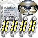TORIBIO 無極性 4個入 車内ランプ 41MM 42mm 5730 6-SMD LED ルームランプ 6連 ホワイトセット 12V 車用 LEDバルブ ウエッジタイプ LED電球 ライトデコード高輝度環境省エネランプ 211-2 212-2 214-2 2112 2122 2142 578 576 560 569