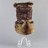 S-BBG ダウン風ファーコート 秋冬モデル 犬服/ペット衣類 全7サイズ(XS-3XL)