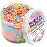 Hoyols Multi Color Hair Elastic Rubber Bands Ponytail Polyband No Damage Ties 1500 Piece Pack for Baby Girl
