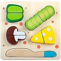 gybber & Mumuキッチン切削Toy for Kids with 5木製ピース、Bean