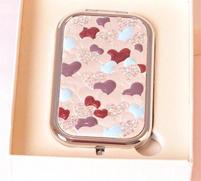 HuaQingPiJu-JP ミニ長方形の金属の小さなガラスの鏡は、工芸品の化粧品アクセサリーのための円