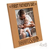 (4x6-Vertical) - Kate Posh - First Father's Day with Daddy & Me Picture Frame (4x6-Vertical)