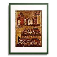 Ikone, Nowgorod,15. Jahrhundert 「Die Schlacht zwischen den Nowgorodern und den Suzdalern.」 額装アート作品