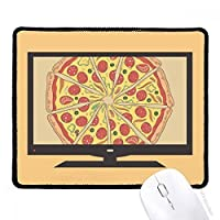 ピーマンのピザイタリアトマト食品 マウスパッド・ノンスリップゴムパッドのゲーム事務所