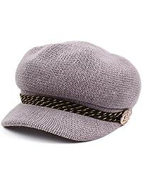 ベレー 帽子 女性 レディース 綿 リネン 調節可能 八角形 キャップ 屋外 野球帽子 ギフト