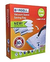 Bordell 真空省スペースバッグ イージーロックバルブ付き (ジャンボとフリーハンドポンプ4個パック)