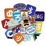 Onderroa - 50個のJavaインターネットJS PHPのドッカービットコインのHTMLクラウドプログラミング言語APPロゴステッカーおかしいです