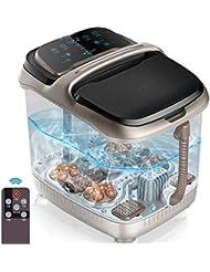 LEIGE Foot Spa Massager - スーパーファストヒーティングシステム、4つの電動マッサージローラー、ささやく静かな、リモートコントロール付き浴槽