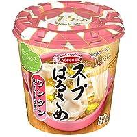 【3ケース】エースコック スープはるさめ ワンタン味 32g×6個×3ケース