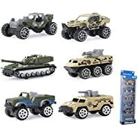 Coolplay Die-cast Military Toy, Set of 6 Assorted Vehicles Alloy Play Car Army Transport Truck Models - a Fun Set for Playing or Collecting Toy for Kids