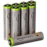 Amazonベーシック 充電池 高容量充電式ニッケル水素電池単4形8個パック(充電済み、最小容量 800mAh、約500回使用可能)