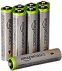 【値下がり!】Amazonベーシック 高容量充電式ニッケル水素電池単4形8個パック充電済み、最小容量 800mAh、約500回使用可能が激安特価!
