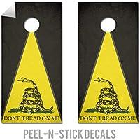 Dont Tread On Me – Cornholeクルー – ACA Regulation Size Cornholeボードデカール