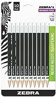 Zebra 2 Mechanical Pencil, 0.7mm Point Size, Standard HB Lead, Black Barrel, 10-Count