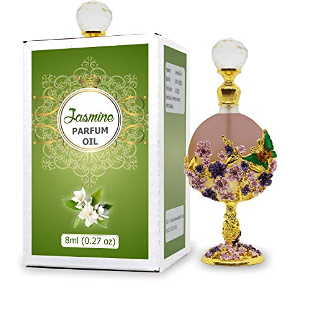 マンモス行き当たりばったりコマースJasmine Parfum Oil - Alcohol Free Perfume Oil - Long Lasting Jasmine Fragrance For Women - 8 ML
