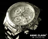 [アンクラーク]ANNE CLARK 腕時計 1P 天然 ダイヤモンド クロノグラフ レディースウォッチ シルバー AM-1012VD-02 レディース