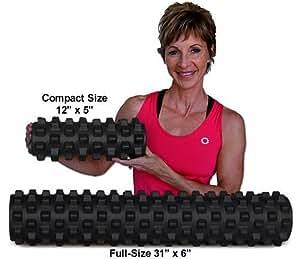 ランブルローラー/Rumble Roller(ロングサイズ+スモールサイズ/ハードタイプ【黒】2サイズセット)-トリガーポイント&筋筋膜リリース/マッサージ&ストレッチローラー
