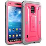 Samsung Galaxy S5 Active Case SUPCASE Unicorn Beetle PRO 衝撃吸収 全面保護 防塵 ハイブリッド ハードケース (Pink/Gray)