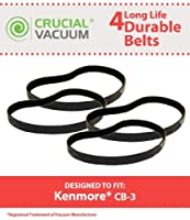 4 Replacements for Kenmore CB-3 Smooth Belts Fit PowerMate Canisters Compatible With Part # 20-5218 by Think Crucial 【Creative Arts】 [並行輸入品]