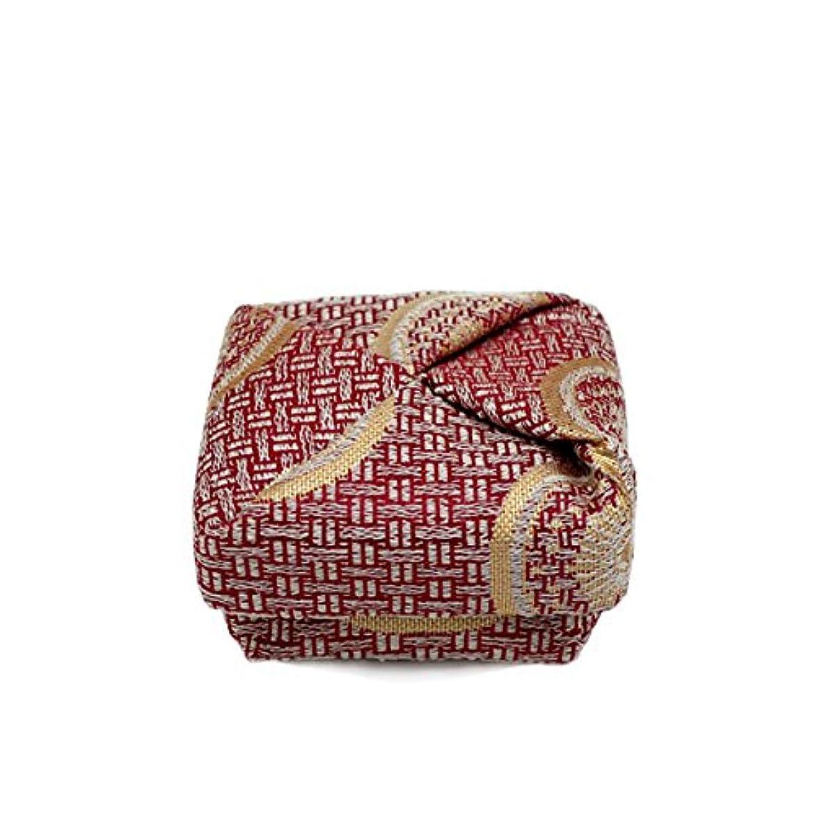 葉を拾う同様に起きる布香合‐角‐ 紙箱入 糸屋輪宝手 赤