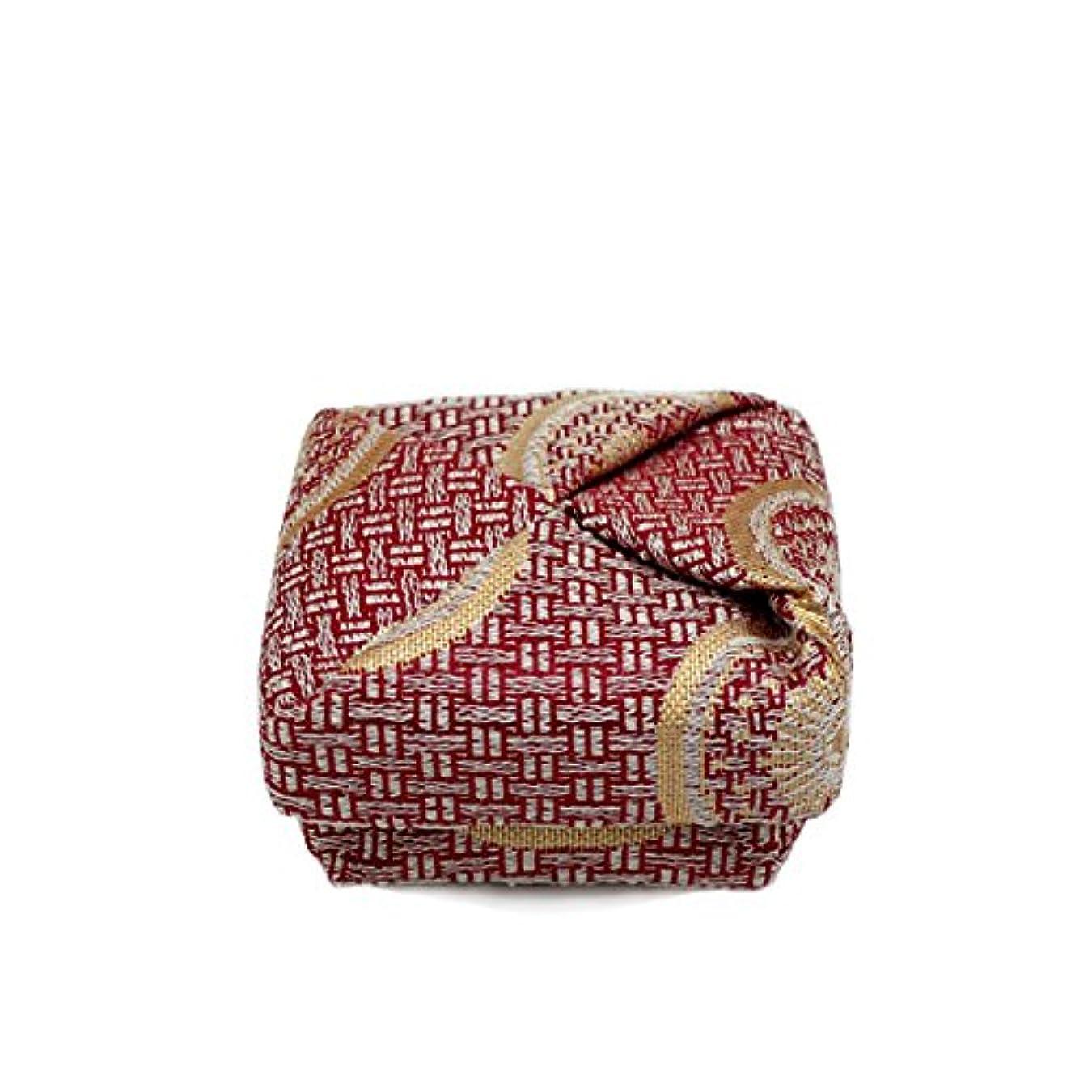 試みる見つけた節約する布香合‐角‐ 紙箱入 糸屋輪宝手 赤