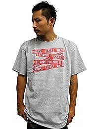 4367 BADASS/バダス 5BOX バダス Tシャツ ヘザーグレー×レッド