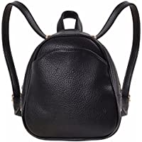 Humble Chic Mini Vegan Leather Backpack - Convertible Shoulder Purse Handbag Tiny Crossbody Bag Black