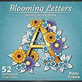 Blooming Letters: Adult Coloring Book