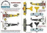Montexスーパーマスク1: 32Fokker Dr。I for Roden Spraying Stencil # 4# k32211