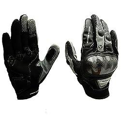 バイクグローブ オートバイ炭素繊維 手袋 タッチパネル スマートフォン対応 すべり止め 春 秋 耐衝撃 通気性 耐用性