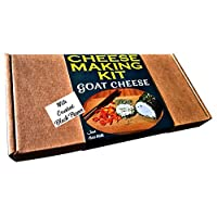 Cheese Making KIT Premium Goat Cheese With Black Pepper = Great Gift Present = Make Your Own Cheese