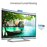 ASUS Curved 31.5 Full HD 1080P 144Hz HDMI VGA DVI Eye Care Monitor 31.5-Inch Screen LED-lit Monitor (VA326H) [並行輸入品]