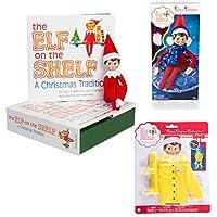 Elf on The Shelf Boy and Bonus Outfits: Scout Elf Boy, Snow Tube Set, and Elf Raincoat
