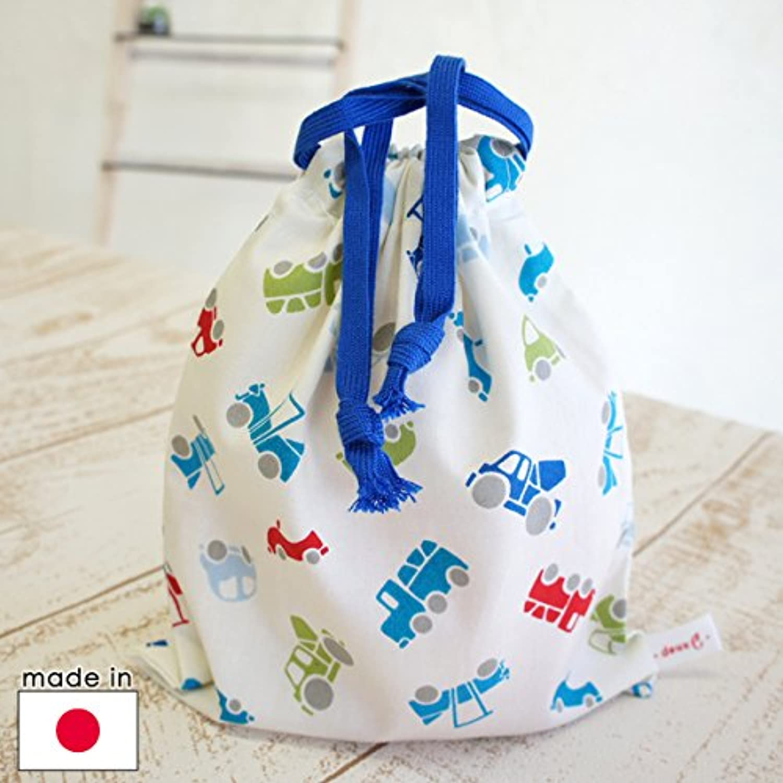 ドゥ?セー / deux C コップ袋(巾着/マグバッグ) モービル/ブルー