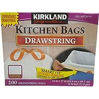 KIRKLAND カークランド ひも付きゴミ袋 キッチンバッグ 200枚