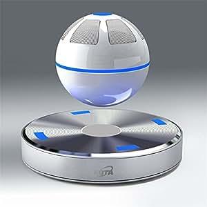 KOTA?空中に浮かぶ新型球体ワイヤレスBluetoothスピーカー 10m前後の通信距離Bluetooth4.0&NFC対応 不思議なスピーカー (ホワイト)