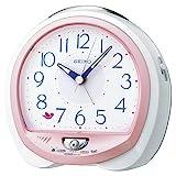 セイコー クロック 目覚まし時計 ネイチャーサウンド アナログ 切替式 アラーム ピンク パール QM745P SEIKO