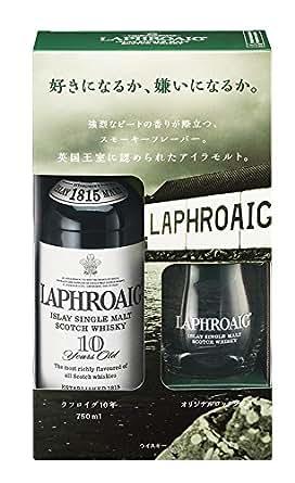 シングルモルトウイスキー ラフロイグ10年 グラス付きギフトパック [ ウイスキー イギリス 750ml ]