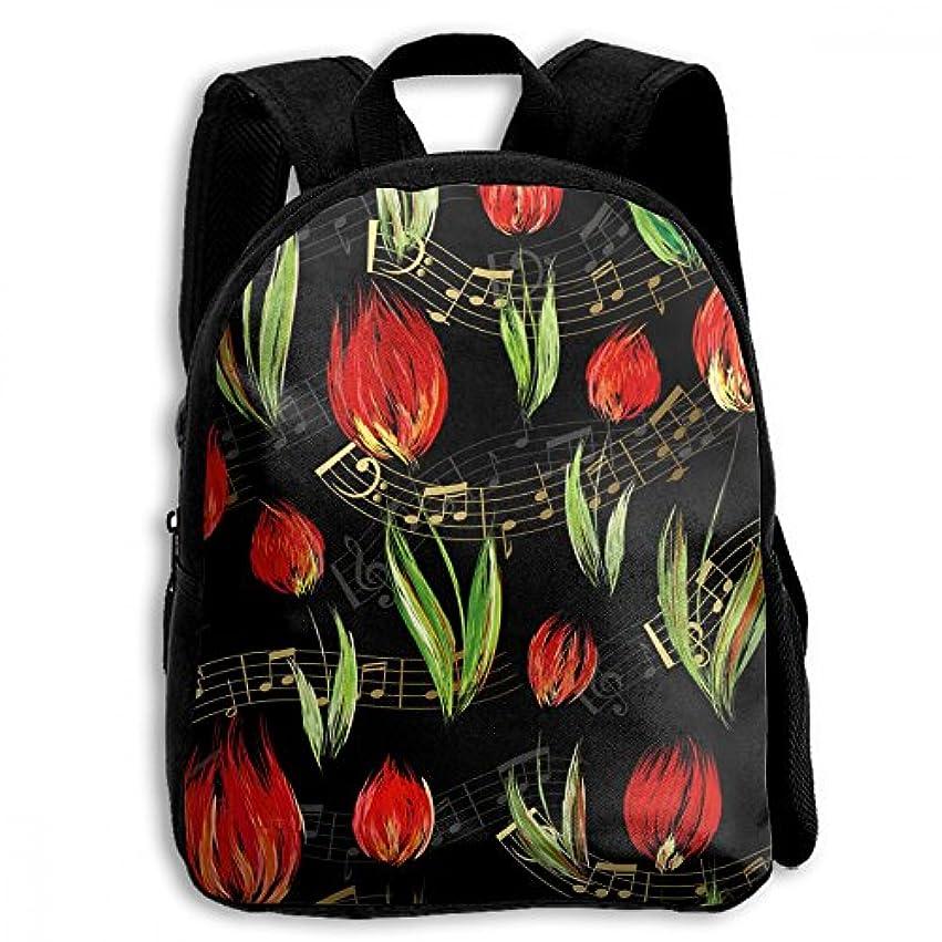 広大なスプーン急性キッズ リュックサック バックパック キッズバッグ 子供用のバッグ キッズリュック 学生 花柄 植物 赤い 花 アウトドア 通学 ハイキング 遠足