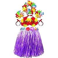 ダンススカートは夏のパーティードレスアップの小道具草スカートパープルスーツ