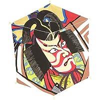 インテリア 手描き【和凧】六角凧 縦60×横48cm【ロ-16ト】歌舞伎絵 暫